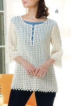 White crochet tunic - Country Mom