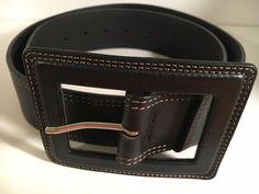 Banana Republic Women's Black Genuine Leather Belt Size S Small  Made in Italy #BananaRepublic