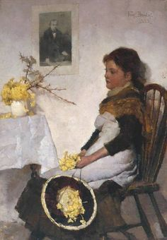 Frank Bramley - Primrose Day (1885)