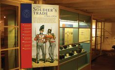 The Soldier's Trade. The Fort York Museum exhibit for the City of Toronto explores and examines British military technology and practices in Canada in the realms of artillery, engineering, cavalry, command, infantry, medicine and music. York Museum, War Of 1812, Museum Exhibition, Toronto, Medicine, Engineering, British, Canada, Military