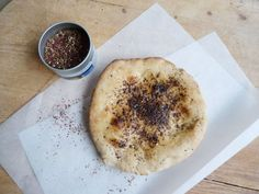 fork and flower: yeasted flatbread with zaatar