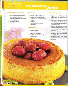 flanes imposibles - Mary. XV - Álbumes web de Picasa Cheesecakes, Cantaloupe, Food To Make, Raspberry, Fruit, Eat, Sweet Dreams, Recipes, Books