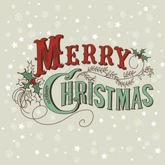 Retro Christmas Card. Merry Christmas lettering Stock Photo - use for Chalkboard art