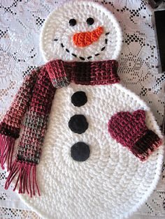 Ravelry: SNoWMaN WiNTeR PLaCEmaTs pattern by Jane Delcambre