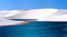 Nope, that isn't snow. Those are the pristine white sand dunes of Brazil's Lençóis Maranhenses National Park | By Gianni Monterzino  x-post /r/BrazilPics