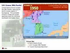 History of the Korean War 1950 - 1953 Map