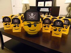 LEGO Pirate Goodie Bags from Kendan's 4th birthday party.