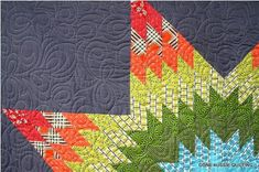 Just this much would look great on a pillow.   Lone Star Quilt.  THIS is just about the gray I've been looking for....