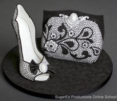 Lace Sugar Shoe and Purse  by Sharon Zambito