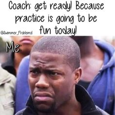 That means swimming. Lots and lots of swimming. I didn't join swimming. Volleyball Memes, Soccer Memes, Volleyball Quotes, Soccer Quotes, Athlete Problems, Swimmer Problems, Soccer Girl Problems, Basketball Problems, Rugby