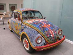 El Vocho. Huichol beaded Beetle.
