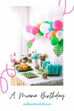 Moana Birthday Party Theme, 3rd Birthday Party For Girls, Girl Birthday Themes, Diy Birthday, Moana Party Decorations, Birthday Decorations, Party Ideas, Connect, Twins