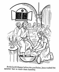 beloved blue: Jesus washes their feet. Make your world more colorful with free printable coloring pages from italks. Our free coloring pages for adults and kids. Jesus Coloring Pages, Easter Coloring Pages, Colouring Pages, Coloring Books, Free Coloring, Catholic Kids, Kids Church, Religion, Sunday School Coloring Pages
