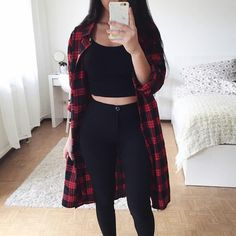 Best Fall outfits ideas for Fashion outfits Teen Fashion Outfits, Edgy Outfits, Korean Outfits, Retro Outfits, Cute Casual Outfits, Grunge Outfits, Simple Outfits, Fall Outfits, Flannel Outfits Summer