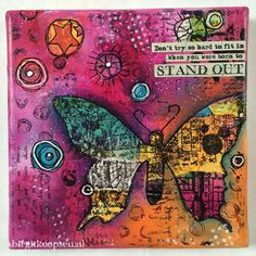 Stand out collage canvas by Birgit Koopsen