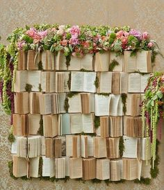 book wedding backdrop - say whaaaat? If I ever get a man, and get married, I am having this.