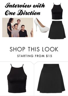 """Interview w/ One Direction"" by isabellaxschmidt ❤ liked on Polyvore featuring Estradeur and Topshop"