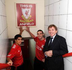 2011 Luis Suarez, Andy Carroll, Kenny Dalglish