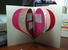 Such an easy card to make and it looks wonderful!--- I think I'm going to modify this to make a mini Baby's 1st Valentine's Day photo book for Bella and put pics on the pages.