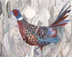 Michelle Morin. Pheasant and Foliage