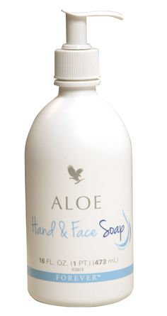 Forever Living Products - Aloe Hand  Face Soap. Luxurious natural moisturising, cleansing soap with a mild formula, perfect for the entire family. Ideal to use when shaving, gentle enough to use on the face and kind to sensitive skin. (473ml)