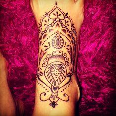 Mehndi foot tattoo