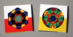 The deceptively simple, die-cut cards of the Kaleidograph® can be arranged in over 350 million designs. Based upon geometry in nature — the symmetries of crystals and flowers — the Kaleidograph upholds the tradition of the original, Froebel Kindergarten system that is known to have influenced Frank Lloyd Wright, Buckminster Fuller, Piet Mondrian, and design education at the Bauhaus