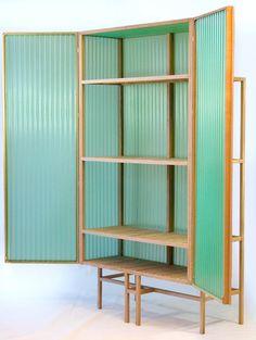 Great translucent room divider - Sine Cabinet by Dik Scheepers | Design Milk