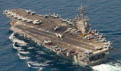 uss george h. Navy Carriers, Aircraft Carrier, Us Navy, Battleship, Mediterranean Sea, War, Places, Planes
