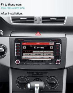 Skoda Roomster car dvd after installation