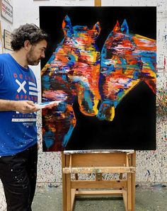 #artcollectibles #prints #digitalprints Large Artwork, Large Painting, Living Room Canvas Art, Horse Wall Art, Horse Print, Unique Wall Art, Abstract Wall Art, Canvas Art Prints, Pop Art