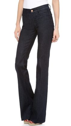 I am DYING to try high waisted, flared pants