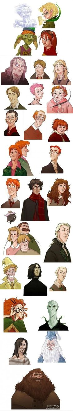 Only a true Potterhead would know who all of these people are. I know.