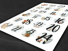 24 Aufkleber Adventskalenderzahlen Zahlen Adventskalender   Etsy Planner Stickers, Cards, Etsy, Diy Advent Calendar, Numbers, Sticker, Maps, Playing Cards