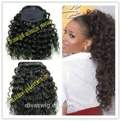 160g Ciara Brazilian Curly Afro Kinky Hair Drawstring Ponytail For Black Women