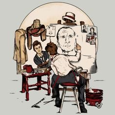 The Doctor unleashes his creative side with the Doctor Who Rockwell T-Shirt, which manages to capture many faces of the Time Lord.  The madman with a box has had so many faces that it would be impossible to capture them all with one s
