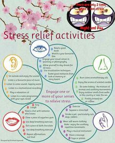 Reduce your stress levels! Over time, stress may cause or worsen depression, heart disease, lower immunity, increased abdominal fat and other conditions that are risk factors for dementia.