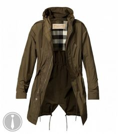 The Want   Burberry Waxed Hooded Fishtail Parka