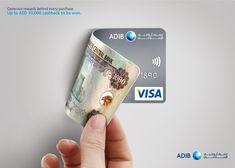Showcasing amazing benefits of using ADIB credit cards. Ads Creative, Creative Posters, Creative Advertising, Creative Cards, Banks Advertising, Print Advertising, Banners, Web Banner, Banks Ads