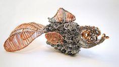 Goldfish wire sculpture