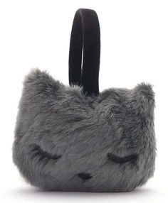 Rakuten: It is the earmuffs gray of the closed cat with ぷーちゃん eyes- Shopping Japanese products from Japan