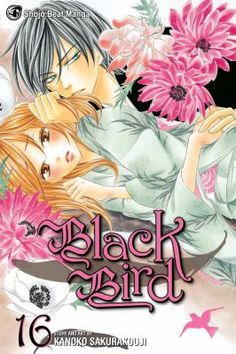 Black Bird, vol. 16, by Kanoko Sakurakouji. Misao has made the choice to forgo college and a normal human life in order to be Kyo's wife and mother to the demon child she carries. But her pregnancy is unusual, even for the demon world. The last pages of the Senka Roku will reveal the truth of the matter, but now that Kyo has it in his hands, does he really want to know?