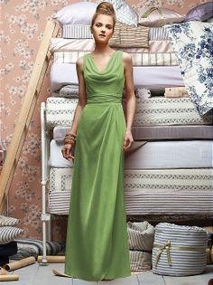 Heather's dress in clover (crinkle Chiffon).