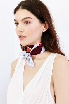 Silky Square Scarf - Urban Outfitters