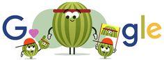 10. den Doodle Fruit Games 2016! Zjistěte víc na adrese g.co/fruit!