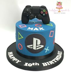 Boys 16th Birthday Cake, Candy Birthday Cakes, Sweet 16 Birthday Cake, Ps4 Cake, Playstation Cake, Sweet 16 Cupcakes, Cake Designs For Boy, Video Game Cakes, Girl Cakes