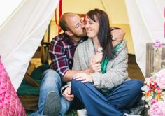 Lee Hawksworth and Christina Brough at High Austby Farm, Ilkley, Yorkshire. This is My (glampit) engagement.