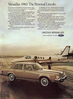 Print ad for the 1980 Lincoln Versailles.