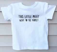This Little Piggy Went to The Market - Unisex Toddler T-Shirt - Trendy - Modern - Kids - Photoshoot by LittlePiggyToesCo on Etsy