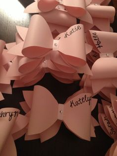 Nametag idea. Perfect for a Think Pink event.